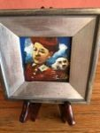 James Feehan SUNSHINE BOYS Oil and wax 2 1/4 x 2 1/4  $200.