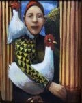 James Feehan CHICKEN KEEP Oil and wax 10  x  8 $950.