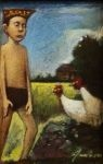 James Feehan Chicken Rustica Oil and wax 6 x 4 $650.