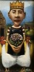 James Feehan PRINCE & BOUQUET  Oil and wax 11 1/2 x 5 1/2 $950.