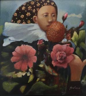 James Feehan  |  Garden Idle |  Oil and wax  |  12 x 12  |  $1,200.