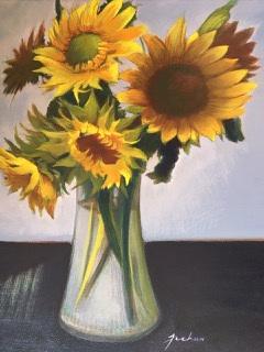 James Feehan  |  Sunflowers |  Oil and wax  |  20 x 16  |  $1,600.