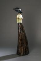 Jane Jaskevich |  Naomi |  Portoro Marble, Green Onyx, Cypress |  27 x 7 x 6 |  $3,600.
