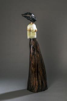 Jane Jaskevich |  Naomi |  Portoro Marble, Green Onyx, Cypress |  27 x 7 x 6 |  $3,600. SOLD