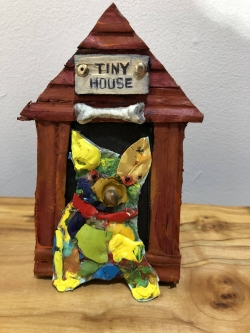 Judith Hummel |  Tiny House, 2020 |  Mixed-media |  5 x 3 |  $30.