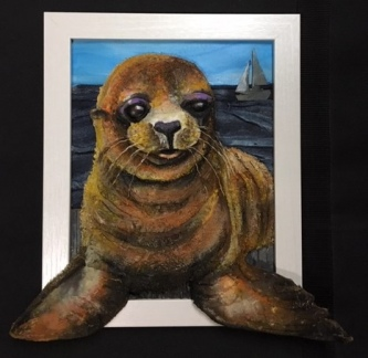 Judith Hummel  Sea Lion  Mixed-media   10 x 8  $150.