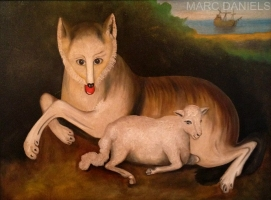 WOLF AND LAMB - SOLD