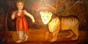 HICK BABY WITH LION - SOLD