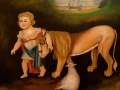 CHILD AND LION - SOLD