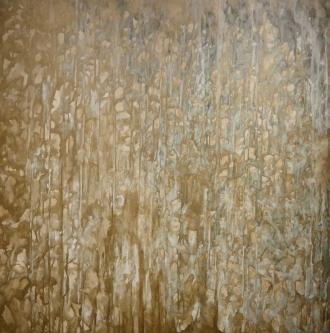 Marlin Bert |  Dunes |  Acrylic + Metallic Bronze |  37 x 37 |  $2,500. SOLD