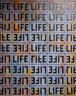 Marlin Bert |  Black LIFE |  Acrylic |  25 x 19 |  $1,400. SOLD