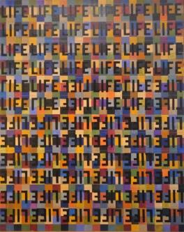 Marlin Bert |  Checkered LIFE I |  Acrylic |  30 x 24 |  $1,400. SOLD