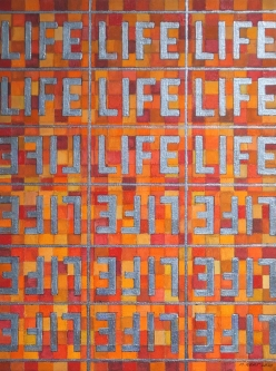 Marlin Bert |  Checkered LIFE 3 |  Acrylic |  12 x 16 |  $900.