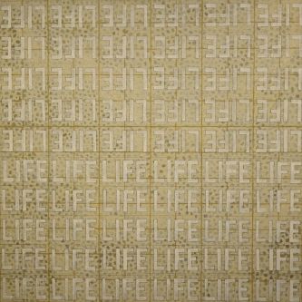 Marlin Bert |  LIFE en Blanc  |  Acrylic |  25 x 25 |  $1,400.