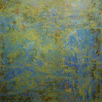 Marlin Bert |  Walden |  Acrylic |  37 x 37 |  $1,800. SOLD
