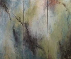 Mary Holton | Rainforest (tryptic) | Acrylic on Canvas | 40 x 48 | Inquire