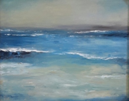 Mary Holton | Approaching Strom | Oil on Canvas | 30 x 24 | Sold- Inquire for more Seascapes