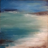 Mary Holton | Cove | Oil on Canvas | 24 x 24 | Sold but Inquire for other Seascapes
