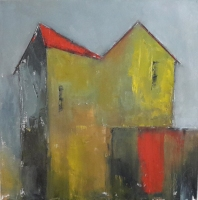 Mary Holton | Factory | Oil on Canvas | 20 x 20 | Sold