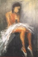 Mary Holton | Tired Dancer | Oil on Canvas | 36 x 24 | Sold