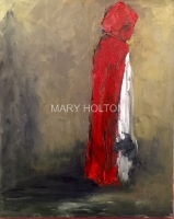 Mary Holton | Red | Oil on Canvas | 30 x 24 | Sold