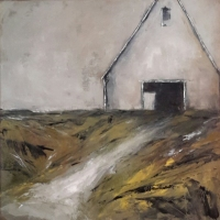 Mary Holton | Hay Barn | Oil on Canvas | 24 x 24 | Sold - Inquire for more of the series