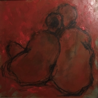 Mary Holton | Couple| Oil on Canvas | 20 x 20 | Inquire