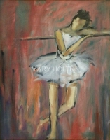 Mary Holton | Dance the Red Wall | Oil on Canvas | 30 x 24 | Sold