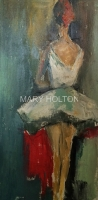 Mary Holton | Dancer | Oil on Canvas | 24 x 12 | Sold