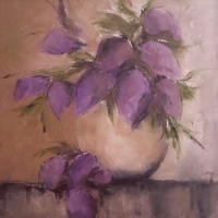 Mary Holton | Plum | Oil on Canvas | 24 x 24 | Sold