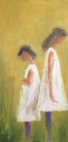 Mary Holton | Pouting (sibling series) | Oil on Canvas | 30 x 15 | Inquire