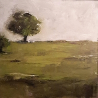 Mary Holton | Tree on Horizon | Oil on Canvas | 20 x 20 | Inquire