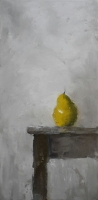 Mary Holton | Yellow Pear | Oil on Canvas | 24 x 12 | Sold