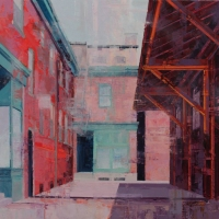 WEST GRANT STREET  Oil on Panel 16 x 16  $1200.