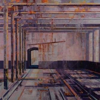 Michael Bartmann  |  Bardo Room III, 2018 |  Oil on board |  40 x 40 |  $4,800.