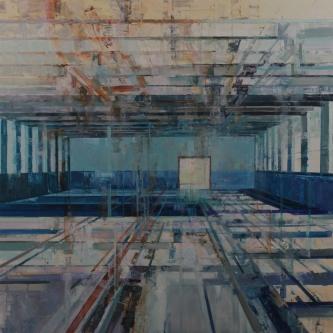 Michael Bartmann  |  Stehli Echo |  Oil on Board  |  36 x36  |  $4000.