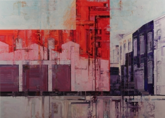 Michael Bartmann  |  Urban Imprint |  Oil on Board  |  40 x 56  |  $5,800. INQUIRE