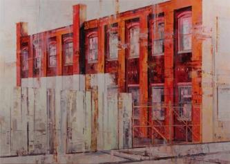 Michael Bartmann  |  Urban Imprint II |  Oil on Board  |  40 x 56  |  $5,800.