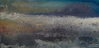 Sheila O'Keefe Braun |  #25  |   Acrylic with wax Painted with fingers |  12 x 24 |  $750.