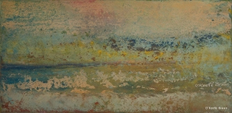 Sheila O'Keefe Braun |  #33  |   Acrylic/wax Painted with fingers |  10 x 20 |  $500.