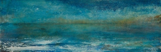 Sheila O'Keefe Braun |  #37  |   Acrylic Painted with fingers/palette knives |  12 x 36 |  $1,100.