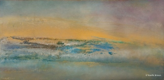 Sheila O'Keefe Braun |  #41  |   Acrylic Painted with fingers  |  24 x 48 |  $2,900.