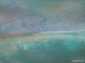 Sheila O'Keefe Braun |  #46  |   Acrylic Painted with fingers/palette knives |  40 x 16 |  $1,600.