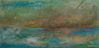 Sheila O'Keefe Braun |  #48  |   Acrylic Painted with fingers |  15.5 x 30 |  $1,200.