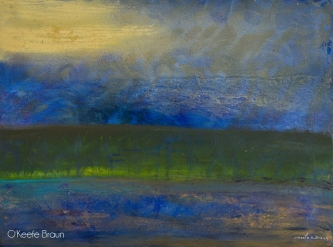 Sheila O'Keefe Braun |  #73 - Jerusalem's Reflection |  Acrylic painted with fingers |  30 x 40 |  $3,000.