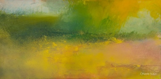 Sheila O'Keefe Braun |  #92 |  Acrylic painted with fingers/palette knives |  24 x 48  |  $2,900.