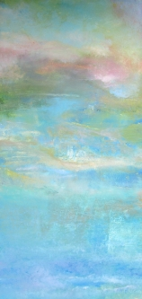 Sheila O'Keefe Braun |  This Place |  Acrylic (finger/knives) |  48 x 24 |  $2,800.