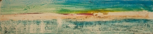Sheila O'Keefe Braun    #22      Acrylic Painted with fingers    7 x 19  