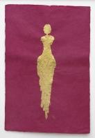 René  Romero Schuler |  Sendara, 2018 |  18k gold leaf on hand-made Nepali lokta paper |  30 x 20 38 x 28 framed |  $1,500. | SOLD