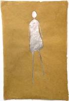 René  Romero Schuler |  Sammy, 2019 |  SS leaf on hand-made Nepali lokta paper |  30 x 20 38 x 28 framed |  $1,800.